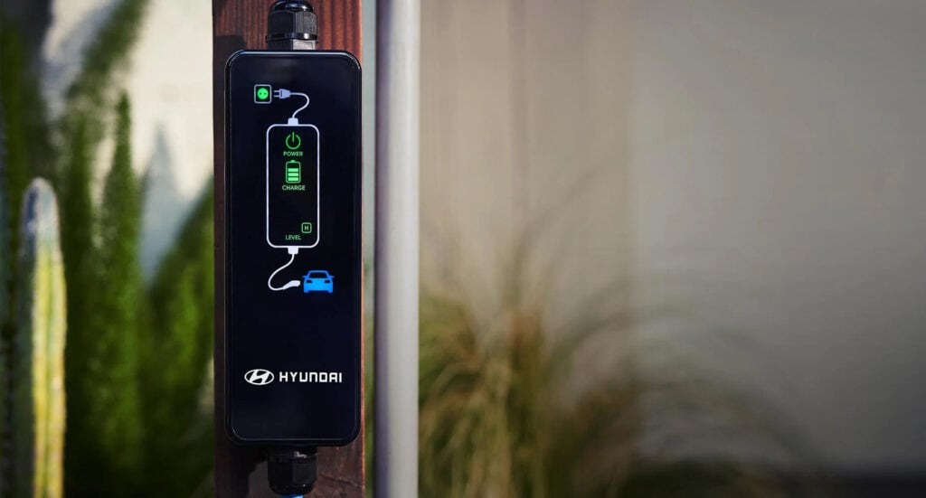 2020 Kona Electric in Winnipeg, MB charging station